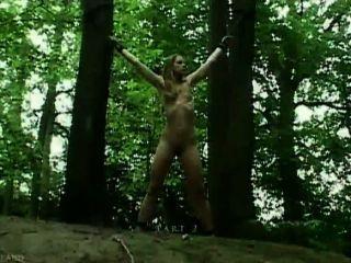 숲속에 묶여있는 망할 놈.