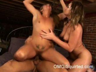 레아 루브르는 엉덩이에 걸립니다.