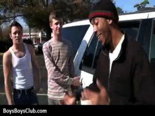 근육 흑인 게이 소년은 흰색 트윙크 하드 코어 15 창발