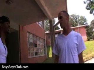 근육 흑인 게이 소년은 흰색 트윙크 하드 코어 22 창피하다.