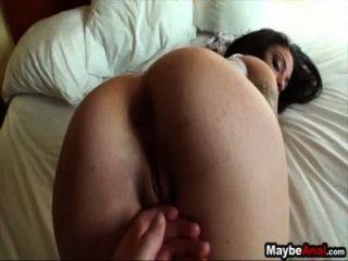 아마추어 갈색 머리 그녀의 엉덩이에 거시기를 가져옵니다 아이비 2