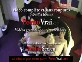 프랑스 개인 파티에서 스파이 캠!camera espion en soiree privee.