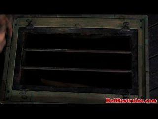 무덤에 의해 학대 된 암캐 수감 된 암캐