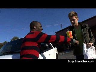 소년들에게 흑인들 게이 간의 인종 간 하드 코어 액션 13