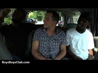 근육 흑인 친구들이 게이 흰색 트윙크 소년 27