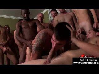 게이 소년들에게 안장없는 얼굴 탄식 파티 14