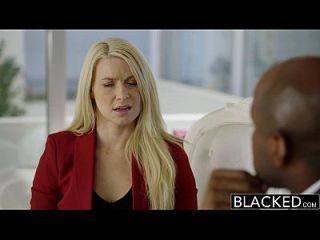 흑인 비즈니스 blonde anikka albrite 엉덩이는 BBC에 의해 엿