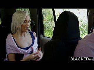 bbc와 preppy 금발의 여자 친구 kacey 요르단 속임수를 검게했다