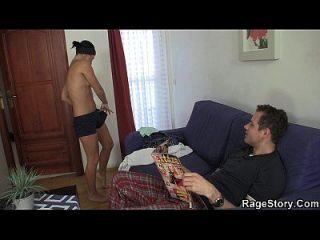 샤워 후 잔인한 섹스와 거친 섹스