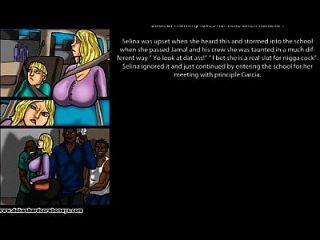 금발의 유부녀가 그녀의 아들 괴롭히는 사람을 망 쳤어!
