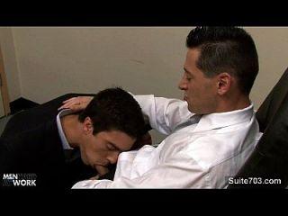 흥분한 동성애자들이 사무실에서 망할