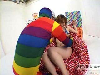 창백한 일본 유명 스타 이상한 진동기 삼인조 자막