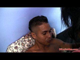 그녀의 라틴 남자 \u0026 애인에 의해 빌어 먹을 bilatin 삼인조 latina