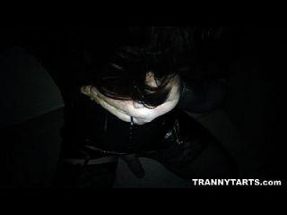 영창에서 자지를 서비스하는 텔레비젼과 cd 매춘부