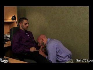 사무실에서 두드리는 털이 많은 게이