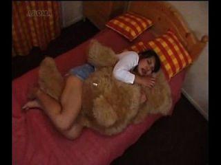 곰 인형 일본 여자