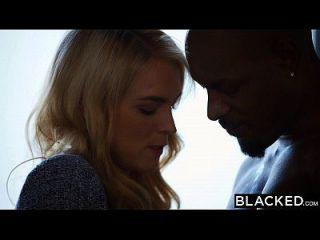 검은 키리아 니콜 그녀의 첫 번째 큰 검은 수탉 걸립니다