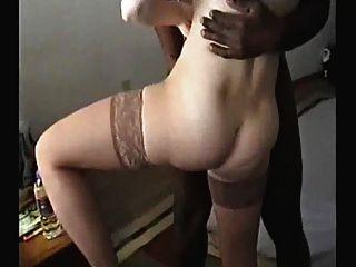 매춘부 아내가 BBC # 22.에 의해 creampied 도착