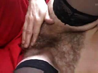 워크샵에서 스타킹에 털이 성숙한 씨발