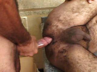 하드 거시기를 안으로 데려가는 brasilian 뚱뚱한 곰