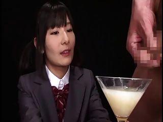 Ryoko Hirosaki Gokkun Swallow.검열 한