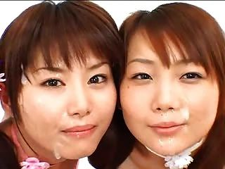 아시아 소녀 2 명 bukkake