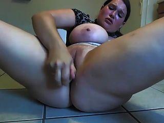 웹캠 4의 뜨거운 뚱뚱한 소녀
