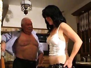 늙은 남자와 여자