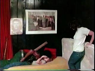 1976 년부터 흑인 남자 소프트 코어 인종 간 백인 소녀