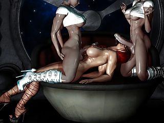 섹시한 3D 아트 2 shemale 씨발 여자 (아주 뜨거운)