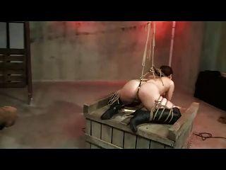 시바리 로프 속박과 때리기