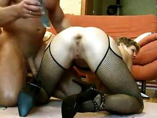 엉덩이에 오이와 아내