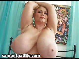 bbw pornstar samantha 38g 그녀의 꽉 젖은 음부와 재생