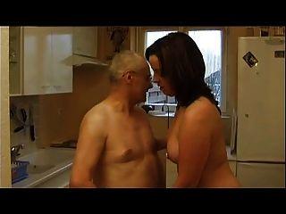 프랑스 캐스팅 99 갈색 머리 항문 성숙한 엄마의 나이든 남자와 노인