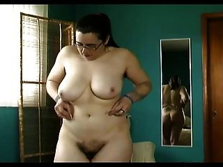 통통한 털이 많은 걔 집 애, 털이 많은 구덩이, 큰 가슴이 란제리에