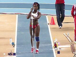 yarisley silva : 섹시 엉덩이 cuban 올림픽 장대 높이뛰기 ameman