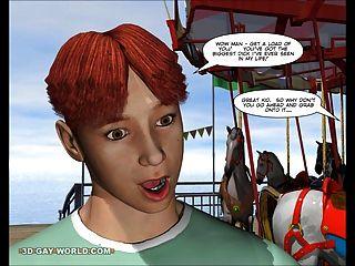 찰리는 카니발에서 : 3d 게이 만화 애니메이션 헨타이 만화
