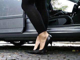 궁극의 가죽 발 뒤꿈치 stilettos 신발 cuir leder 3