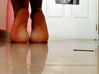 섹시한 여자 latina 뜨거운 피트 섹시한 발바닥