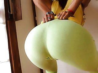울트라 꽉 요가 바지에 둥근 엉덩이 완벽!카멜롯 n 가슴