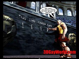 게이 올림픽 게임 재미있는 3D 게이 만화 애니메이션 3D 만화 농담