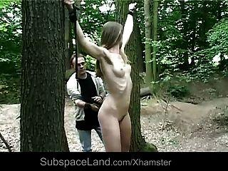 숲속에서 찍은 엿 같은 목마름