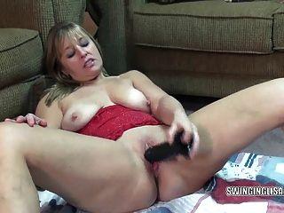 성숙한 liisa 큰 흑인 dildo 섹스