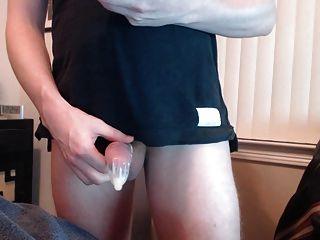 콘돔에 복수로 사정하다!