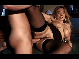 베로니카 금발 스타킹 블랙 스타킹