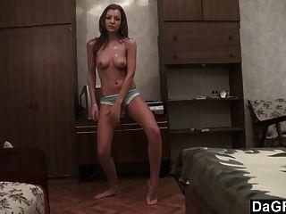 오디션 테이프 노출 : 대학 소녀 영화 섹시한 스트립