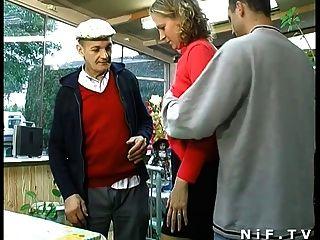 papy 도촬과 삼인조에 열중하는 프랑스 금발의 금발