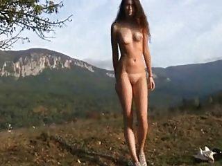 러시아 소녀 야외 촬영