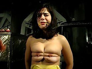 큰 가슴 애인과 그녀의 마스터가 관련된 bdsm 세션