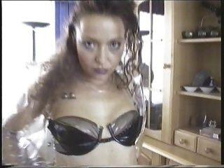 독일의 뜨겁고 변태의 pvc 페티쉬 소녀